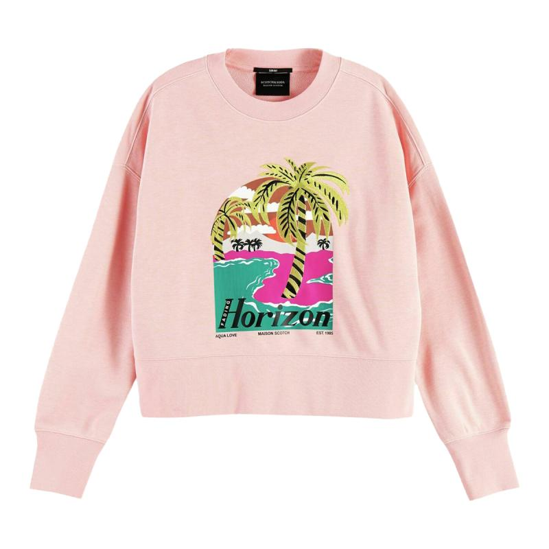 CROPPED SWEAT EMBROIDERED...
