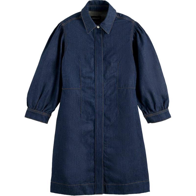 CLEAN DENIM UTILITY DRESS CONTAINS HEMP