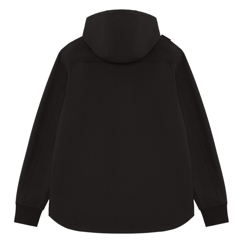 SOLFTSHELL DOWN QUILT HOODED JACKET